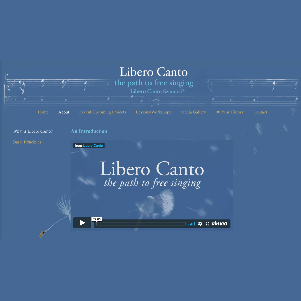 A pianist's website