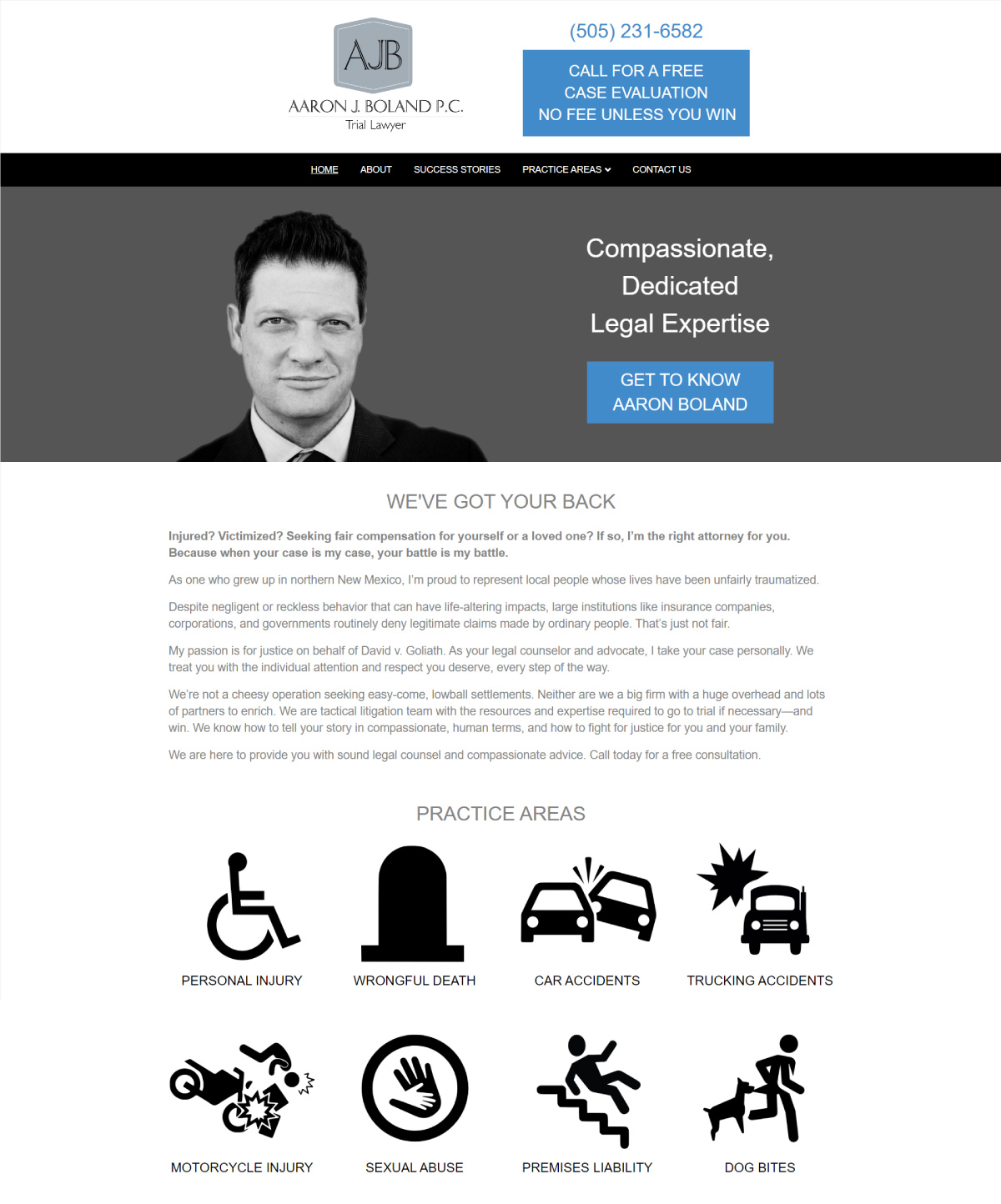 Aaron Boland website